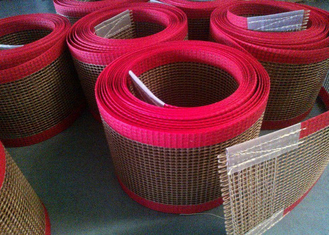 चीन PTFE polyester mesh fabric , PTFE polyester mesh fabric for conveyor belt / griddling cloth, made by PTFE coated आपूर्तिकर्ता